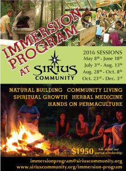 Immersion Program Session 2 @ Sirius Community | Shutesbury | Massachusetts | United States
